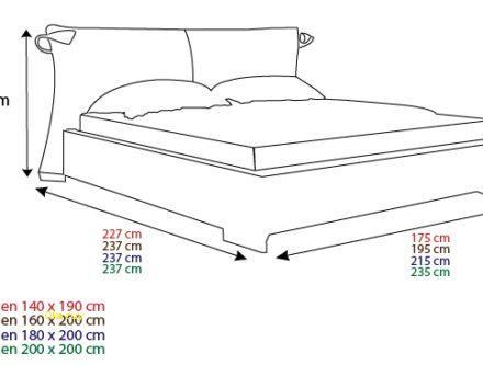 taille lit 2 places