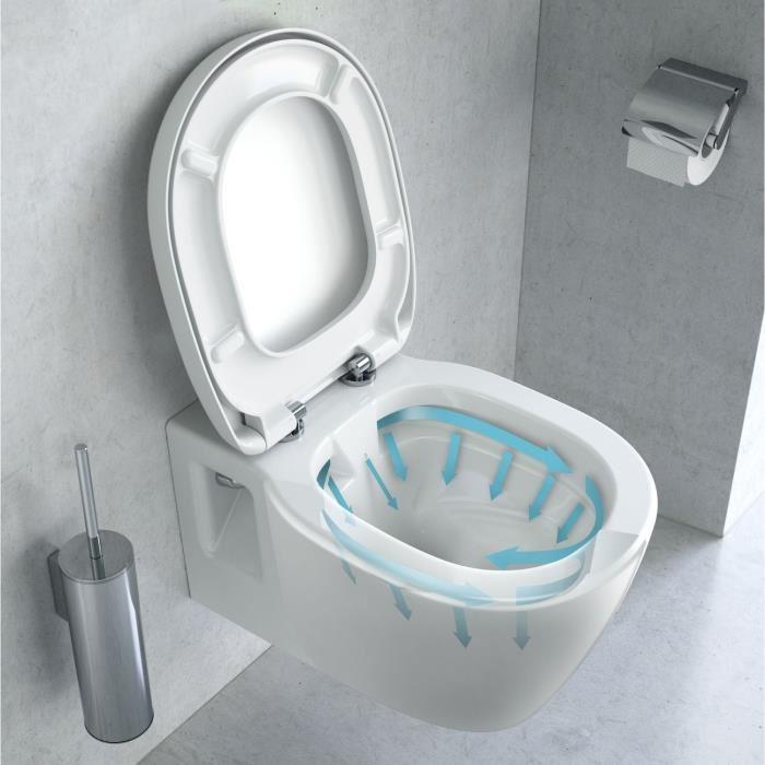 cuvette wc suspendu sans bride