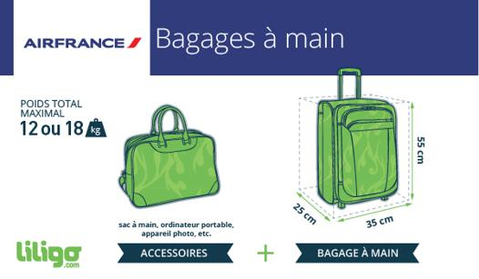 dimension valise cabine air france