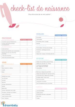 liste de naissance type