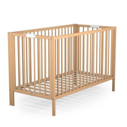 lit bébé pliant en bois