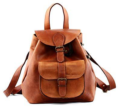 sac à dos cuir marron