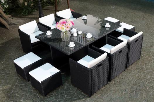 table de salon de jardin