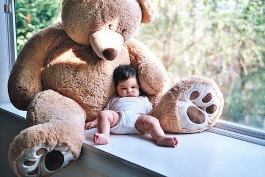 grosse peluche pour bébé