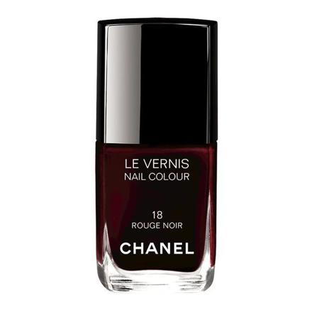 vernis chanel rouge noir