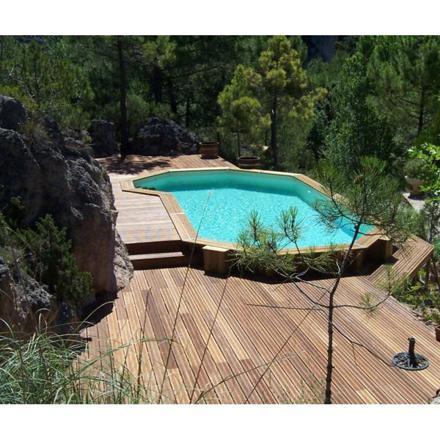 piscine en bois semi enterrée
